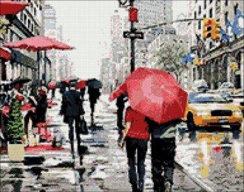 """Мозаичная картина Ag 847 """"Нью-Йорк"""" в собранном виде"""