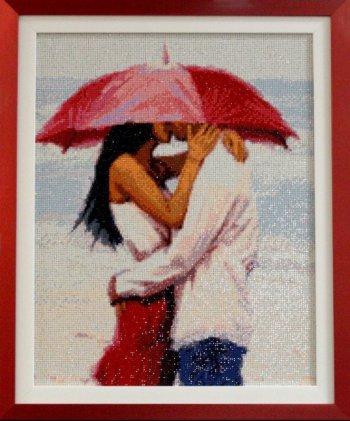 """Мозаичная картина Ag 848 """"На море"""" в раме"""