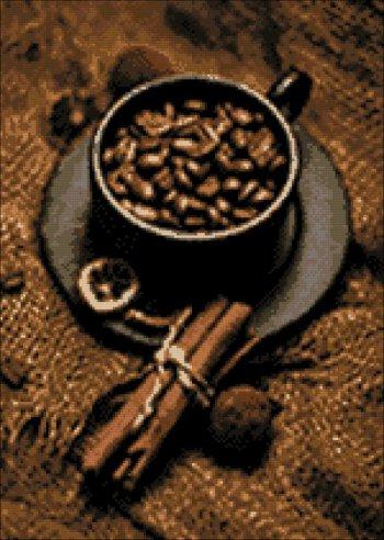 """Мозаичная картина Ag 863 """"Кофе с корицей"""" в собранном виде"""