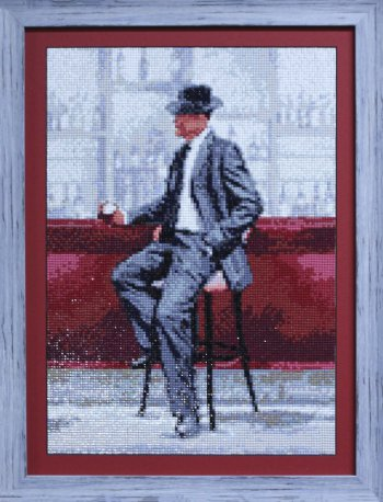 """Мозаичная картина Ag 880 """"Свидание. Он"""" в раме"""