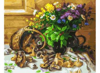 Букет и грибы