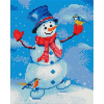 Снеговик и синица