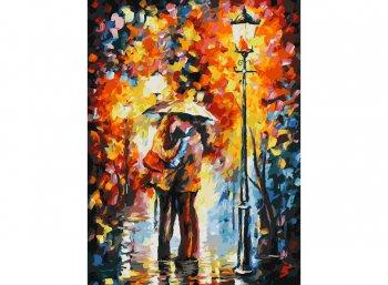 Поцелуй под дождём