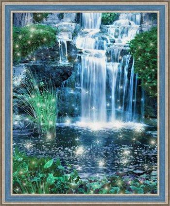 Искрящийся водопад
