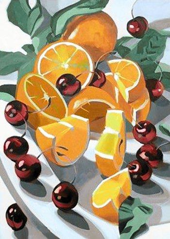 Апельсины и вишни