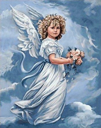 Ангел с цветами