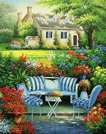 Уютный цветник