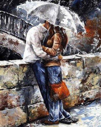 Романтическая прогулка под дождем