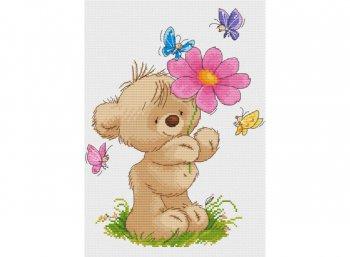Мишка с цветком